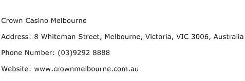 Crown Casino Address Melbourne