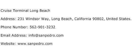 Cruise Terminal Long Beach Address Contact Number