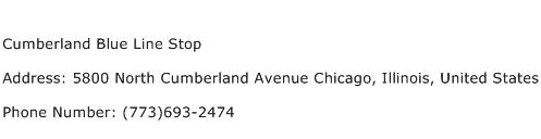 Cumberland Blue Line Stop Address Contact Number