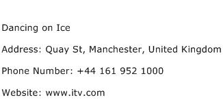 Dancing on Ice Address Contact Number