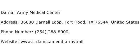 Darnall Army Medical Center Address Contact Number