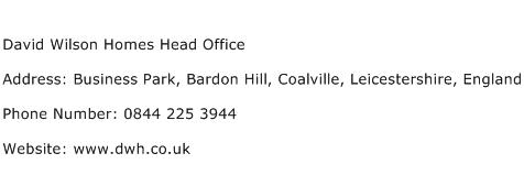 David Wilson Homes Head Office Address Contact Number