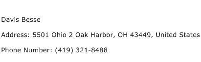 Davis Besse Address Contact Number