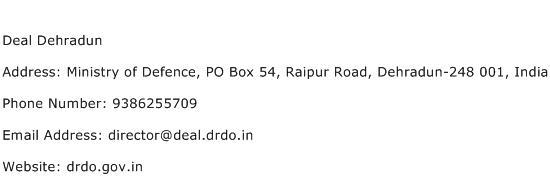 Deal Dehradun Address Contact Number