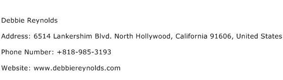 Debbie Reynolds Address Contact Number