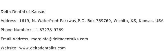 Delta Dental of Kansas Address Contact Number