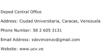 Deped Central Office Address Contact Number