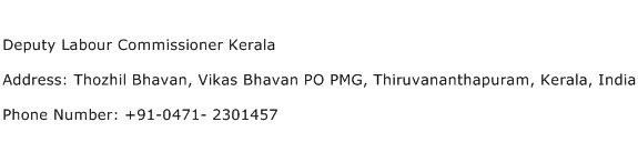 Deputy Labour Commissioner Kerala Address Contact Number
