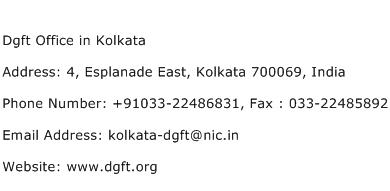 Dgft Office in Kolkata Address Contact Number