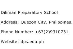 Diliman Preparatory School Address Contact Number