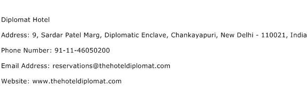 Diplomat Hotel Address Contact Number