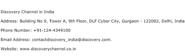 Discovery Channel in India Address, Contact Number of Discovery