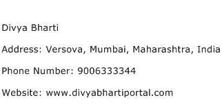 Divya Bharti Address Contact Number