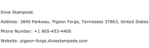 Dixie Stampede Address Contact Number