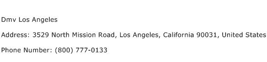 Dmv Los Angeles Address Contact Number