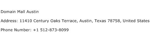 Domain Mall Austin Address Contact Number