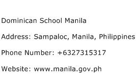 Dominican School Manila Address Contact Number