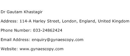 Dr Gautam Khastagir Address Contact Number
