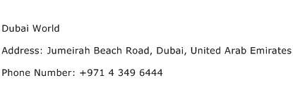 Dubai World Address Contact Number