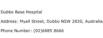 Dubbo Base Hospital Address Contact Number
