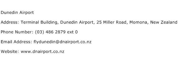 Dunedin Airport Address Contact Number