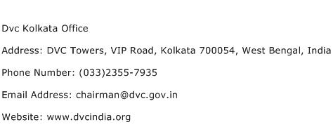 Dvc Kolkata Office Address Contact Number