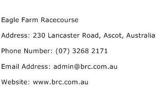 Eagle Farm Racecourse Address Contact Number