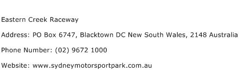 Eastern Creek Raceway Address Contact Number