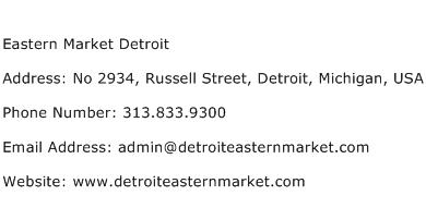 Eastern Market Detroit Address Contact Number