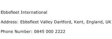 Ebbsfleet International Address Contact Number