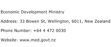 Economic Development Ministry Address Contact Number