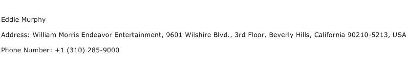 Eddie Murphy Address Contact Number