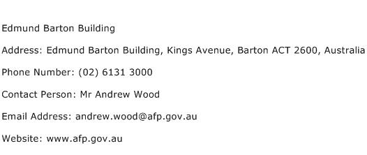 Edmund Barton Building Address Contact Number