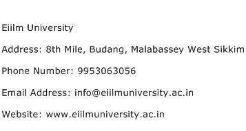 Eiilm University Address Contact Number