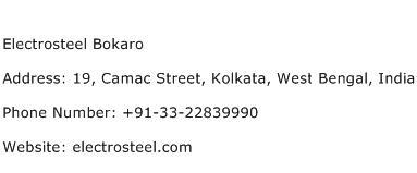 Electrosteel Bokaro Address Contact Number