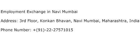 Employment Exchange in Navi Mumbai Address Contact Number