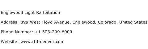 Englewood Light Rail Station Address Contact Number