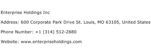 Enterprise Holdings Inc Address Contact Number