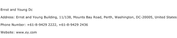 Ernst and Young Dc Address Contact Number