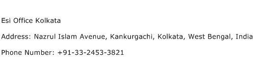 Esi Office Kolkata Address Contact Number