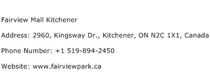 Fairview Mall Kitchener Address Contact Number