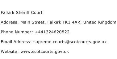 Falkirk Sheriff Court Address Contact Number