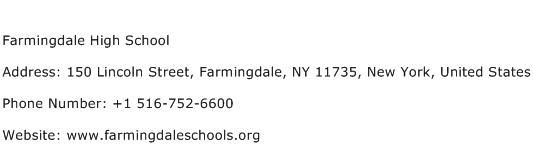Farmingdale High School Address Contact Number