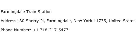Farmingdale Train Station Address Contact Number