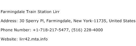 Farmingdale Train Station Lirr Address Contact Number