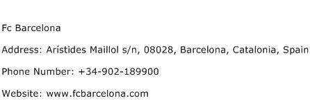 Fc Barcelona Address Contact Number