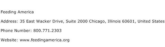 Feeding America Address Contact Number