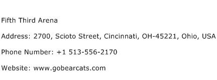 Fifth Third Arena Address Contact Number