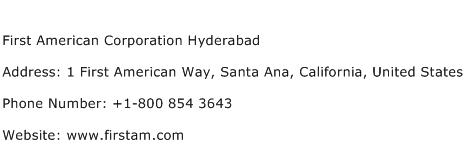 First American Corporation Hyderabad Address Contact Number