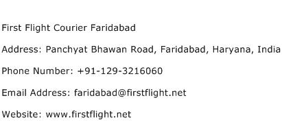 First Flight Courier Faridabad Address Contact Number